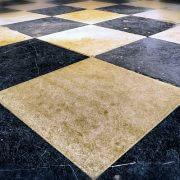 tile floor chequered carpet cleaning brisbane